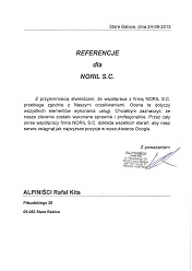 ALPINIŚCI referencje Noril
